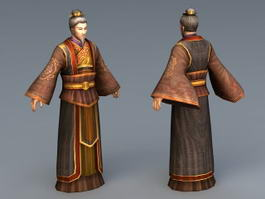 Early Chinese Scholar 3d model
