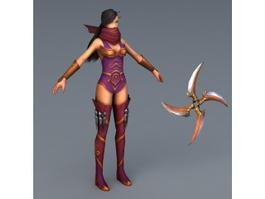 Ninja Girl 3d model