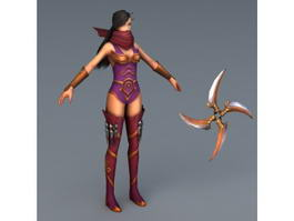 Ninja Girl 3d preview