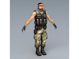 Guerilla Soldier 3d model