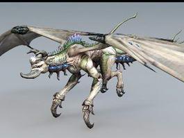 Steampunk Drake Creature 3d model