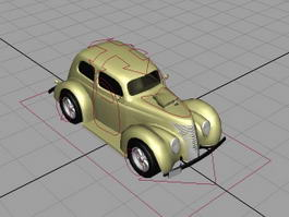Yellow Car Rigged 3d model