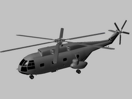 Z-8 Helicopter 3d model