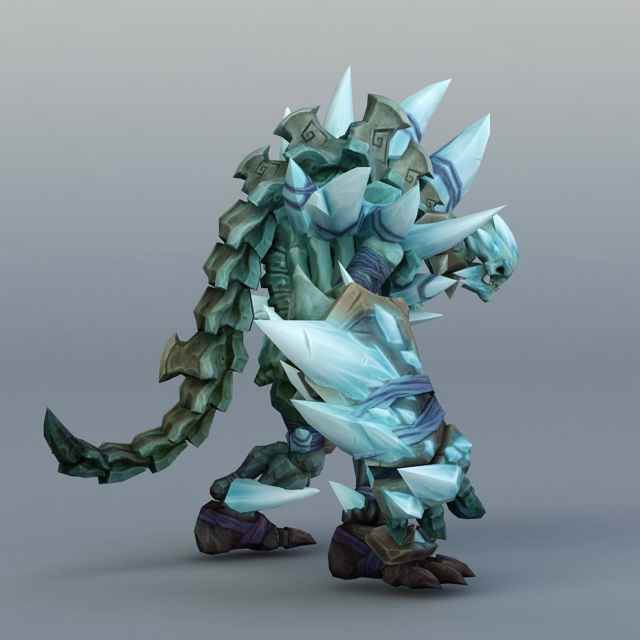 Ice Golem Concept Art 3d Model 3ds Max Files Free Download