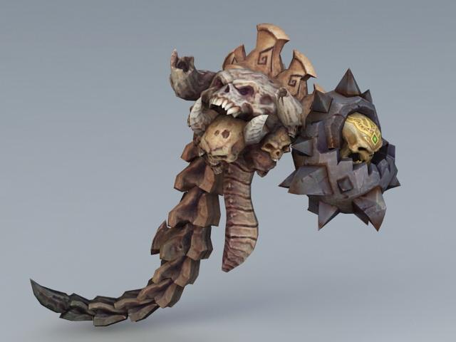 Scary Skull Monster 3d model