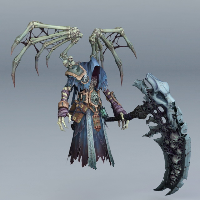 Skeleton Death with Scythe 3d model