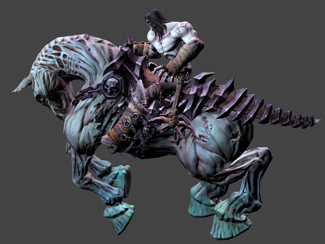 Darksiders 2 Death 3d Model 3ds Max Files Free Download