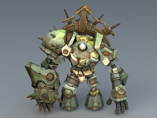 Steampunk Golem 3d Model 3ds Max Files Free Download