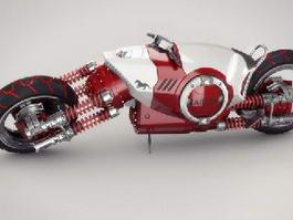 Futurist Bike 3d model