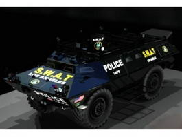 Police SWAT Armored Vehicle 3d model