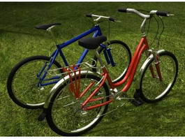 Hybrid Bicycles 3d model