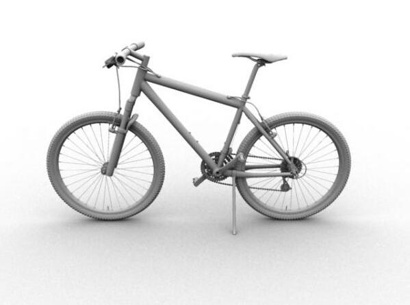 Mountain Bike 3d model Maya files free download - modeling