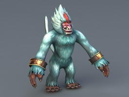 White Ape Anime 3d model