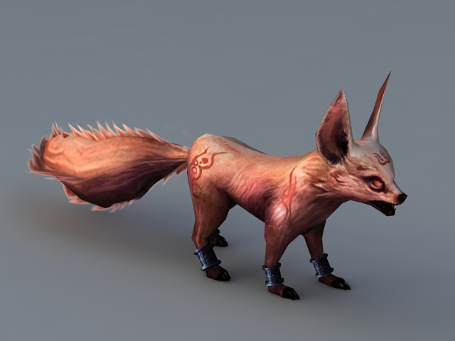 Running Fox Animation 3d Model 3ds Max Files Free Download