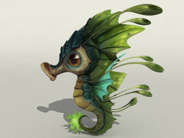 Cute Seahorse 3d Model Maya Object Files Free Download