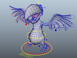 Cartoon Parrot Character 3d model