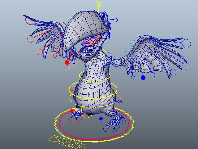 Cartoon Parrot Character 3d model
