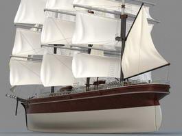 Historic Sailing Ship 3d model