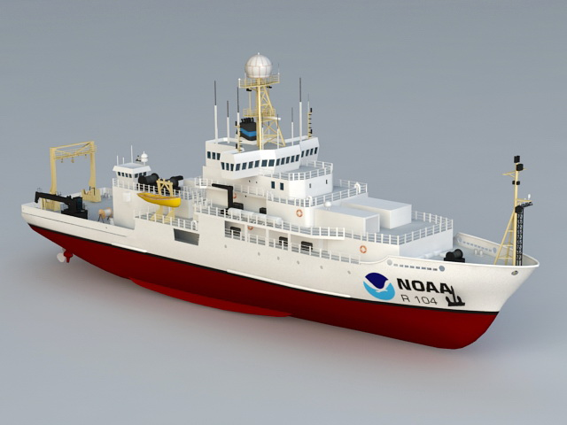 NOAA Ocean Research Ship 3d model