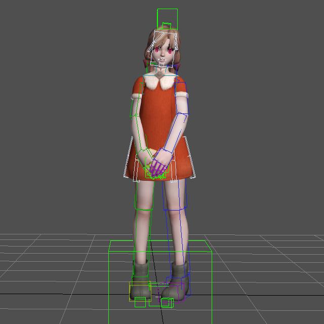 Cute Teen Asian Girl 3d model 3D Studio,3ds Max,Lightwave