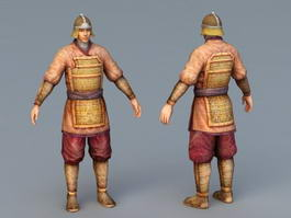 Ancient Chinese Soldier 3d model