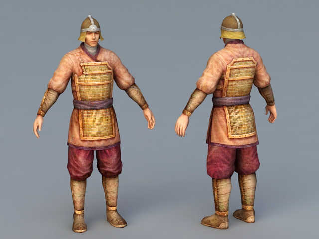 Ancient Chinese Soldier 3d Model 3ds Max Files Free