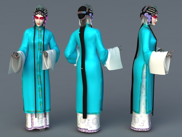 Chinese Opera Female Role 3d model