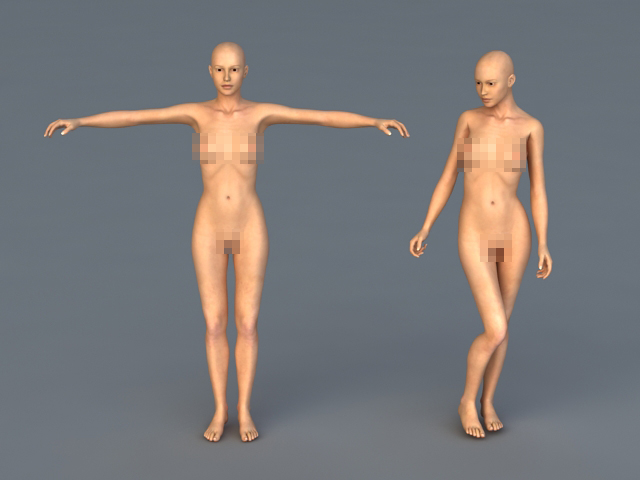 Naked Woman Figures 3d model