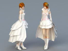 Wedding Dress Bride 3d model