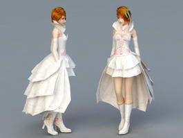Wedding Dress Bride 3d model