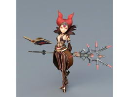 Dragon Nest Sorceress Karacule 3d model