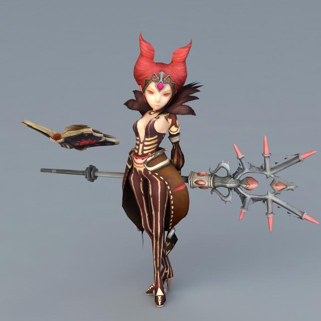 Dragon Nest Sorceress Karacule 3d model
