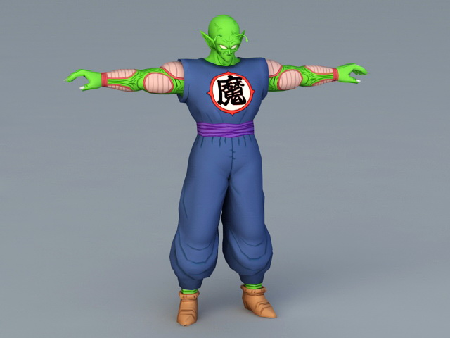 The Great Demon King Piccolo 3d Model 3ds MaxAutodesk FBX