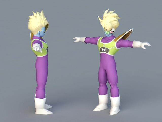 Dragon Ball Captain Salza 3d model 3ds Max,Autodesk FBX,Object files