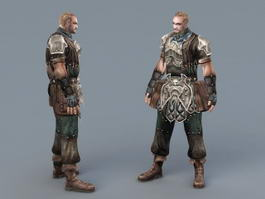 Pathfinder Male Rogue 3d model