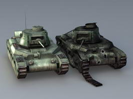 Matilda II British Infantry Tank 3d model