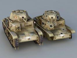 Italian M13/40 Tank 3d model