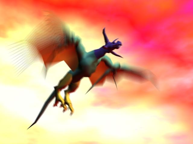 Flying Dragon Rig 3d model