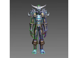 Troll Warrior Rig 3d model