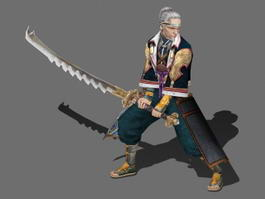 Old Samurai Warrior 3d model