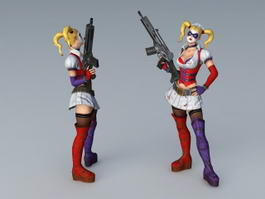 Joker Girlfriend 3d model