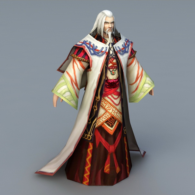 Old Wizard Mage 3d Model 3ds Max Files Free Download