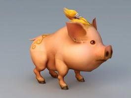 Cute Anime Pig 3d model
