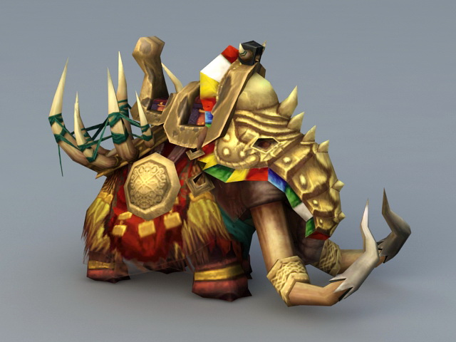 Ancient War Elephant 3d model