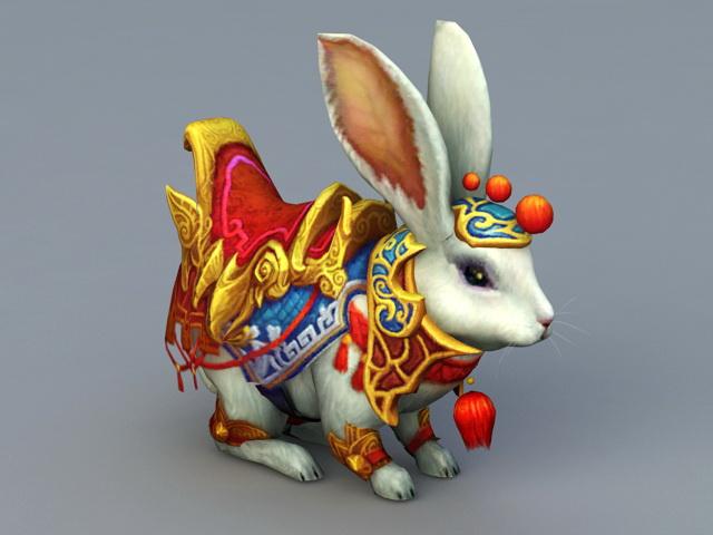 Anime Rabbit Mount 3d model
