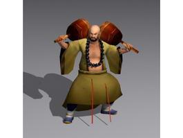 Ancient Shaolin Monk 3d model
