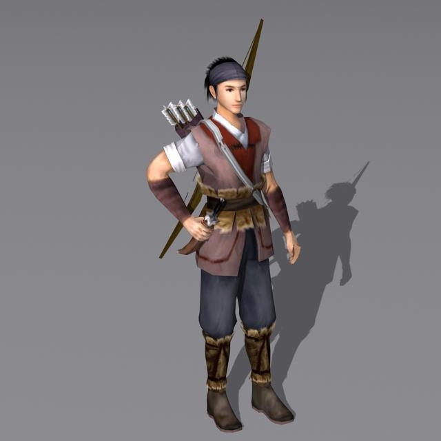 Medieval Hunter 3d Model 3ds Max Files Free Download