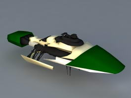 Futuristic Spaceship 3d model