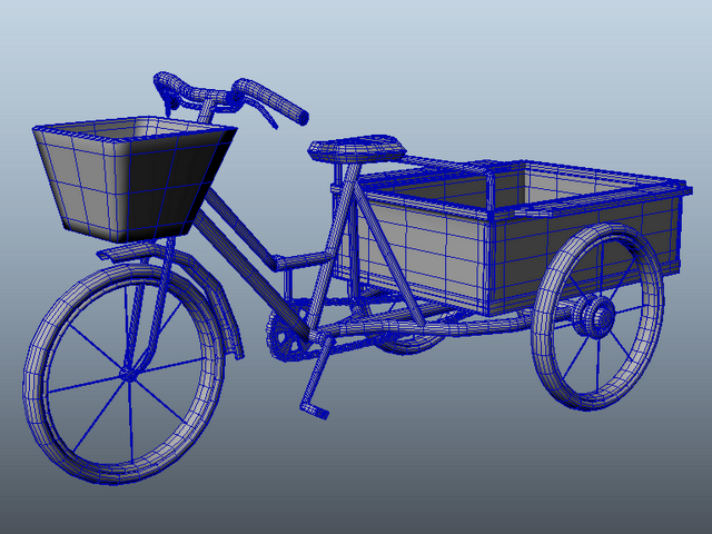 Adult Tricycle Cart 3d model