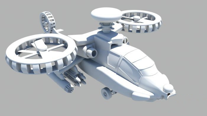 Future Helicopter 3d model